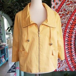 Neiman Marcus Exclusive 3/4 Sleeve Zip Jacket